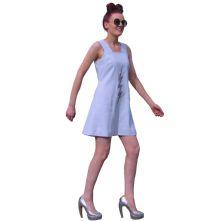 Linen, short shift dress with silk lining